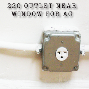 220 outlet near a window for an air conditioner at the ballroom in williamsburg brooklyn