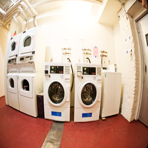 laundry room at the HUTWELKER BUILDING