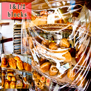 fresh bakery 1.5 blocks / fresh bread & pastries